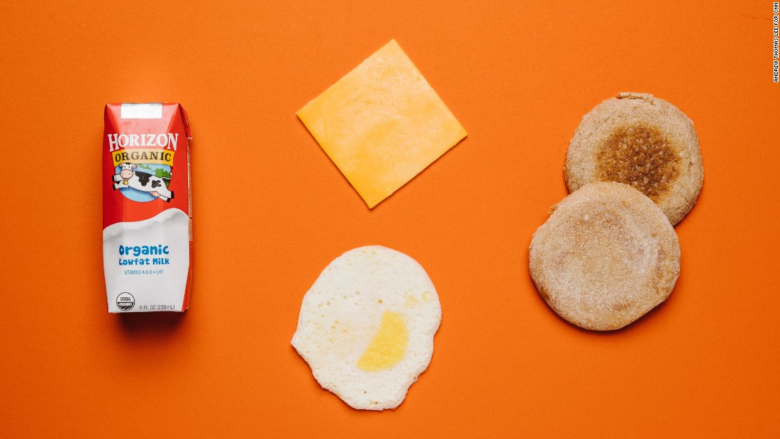 A breakfast of an egg and cheddar breakfast sandwich and organic low-fat plain milk box are Starbucks' best options for kids.