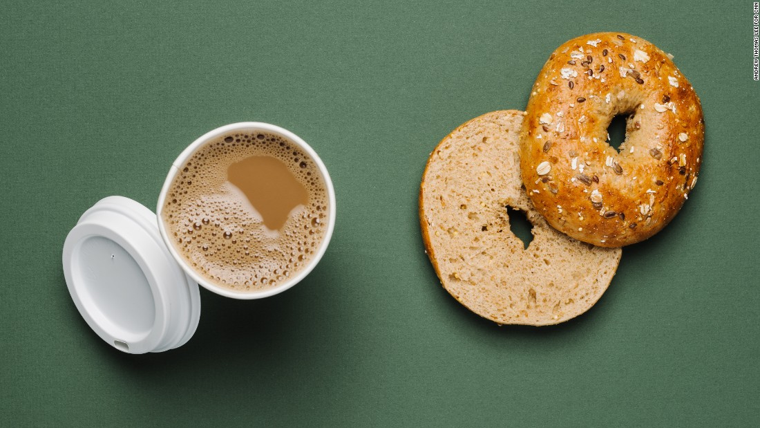 The multigrain bagel helps vegans slow the post-meal rise in blood sugar, contributing to sustained energy throughout the morning. A Caffé Misto with steamed soy milk will keep you warm in the winter.