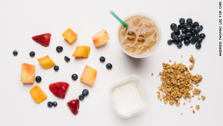 Starbucks' menu, as selected by a nutritionist