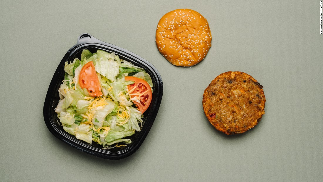 Burger King offers a Morningstar veggie burger topped with lettuce, tomatoes, onions, pickles, ketchup and mayo. But the condiments have a high sodium count. A garden side salad is good, but skip the croutons and dressing, which add even more sodium.