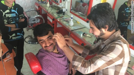 Life in a post-ISIS town: Shaving, haircuts and cigarettes