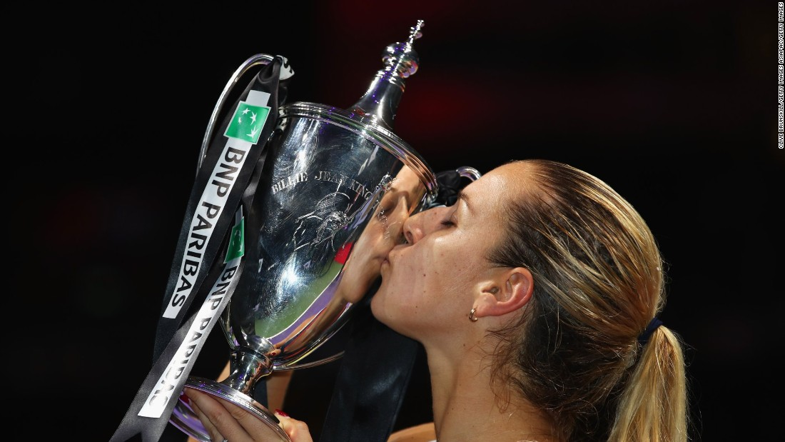 Dominika Cibulkova won the WTA Finals in Singapore, an achievement she called the best of her career.