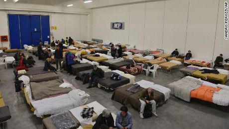More than 15,000 people are being  housed in temporary shelters following Sunday's quake