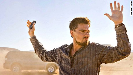 Leonardo DiCaprio on set filming the spy thriller Body of Lies.