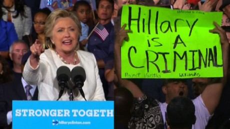Hillary Clinton responds to protester sot_00000000