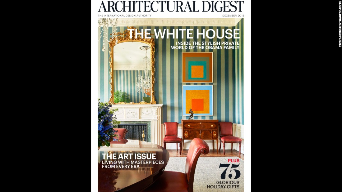 "See more images in the December issue of <a href=""http://www.architecturaldigest.com/story/obama-white-house"" target=""_blank"">Architectural Digest</a>."