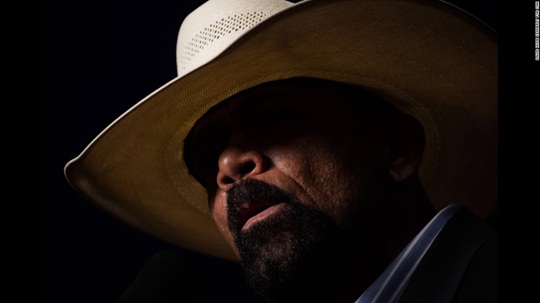 "Milwaukee County Sheriff David Clarke, speaking at a Trump rally on October 17, 2016, claimed that the presidential election was rigged and that it was <a href=""http://www.cnn.com/videos/politics/2016/10/18/sheriff-david-clarke-pitchfork-torches-america-ctn.cnn"" target=""_blank"">""pitchfork and torches time in America.""</a> Trump has come under fire -- from both Democrats and Republicans -- <a href=""http://www.cnn.com/2016/10/20/politics/republicans-rigged-election-donald-trump-presidential-debate/"" target=""_blank"">for saying the election is rigged.</a>"