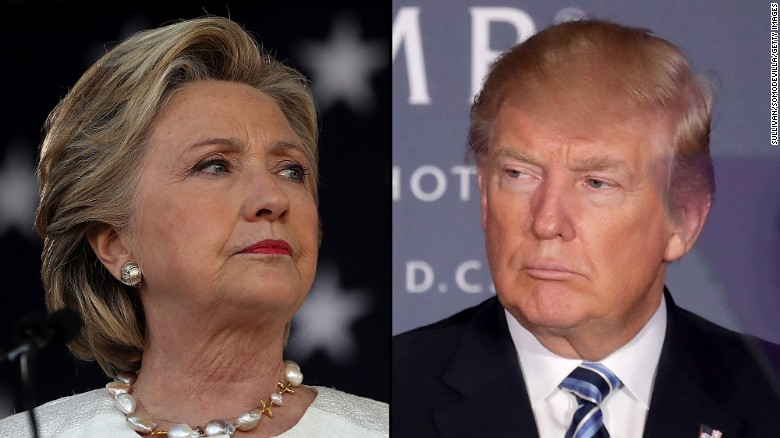 Trump and Clinton make plays for states in jeopardy