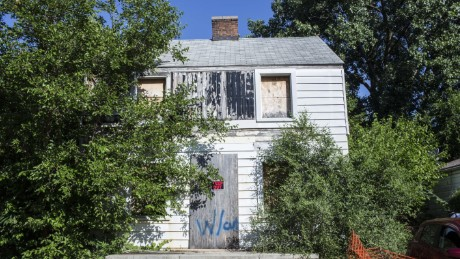 Rosa Parks' house in an abandoned state.