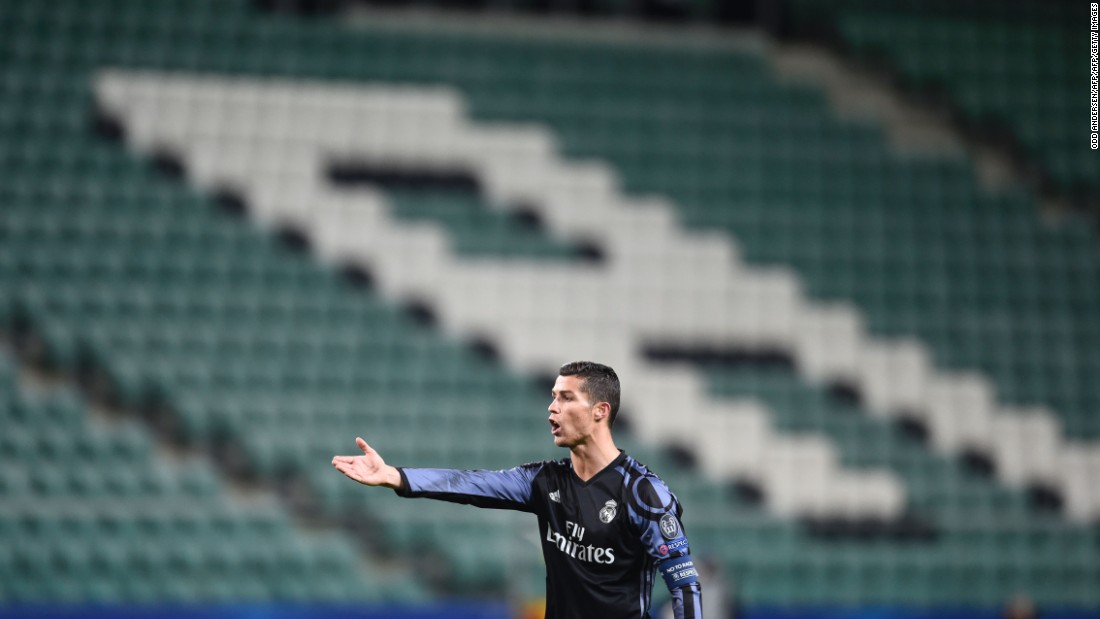 Ronaldo cut a frustrated figure and was unable to add to his tally of 98 Champions League goals.