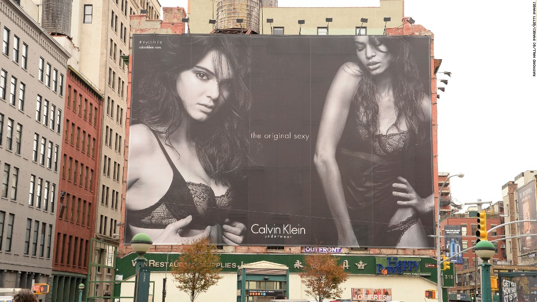 Kendall Jenner featured in a campaign for Calvin Klein.