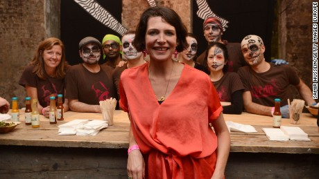 "Owner Thomasina Miers pictured at a ""Day of the Dead"" festival in 2012. Wahaca canceled  this year's festival, due to the outbreak."