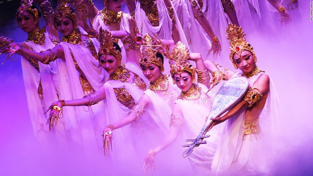 Actresses perform in Kaohsiung, Taiwan, on Saturday, October 29.