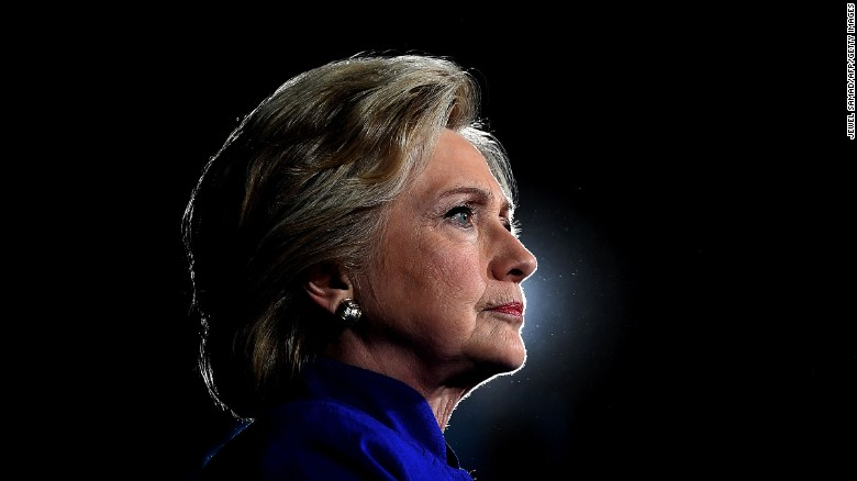 US Democratic presidential nominee Hillary Clinton looks on during a campaign rally in Tempe, Arizona, on November 2, 2016.