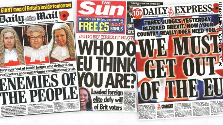 Thursday's UK High Court ruling across the tabloids.