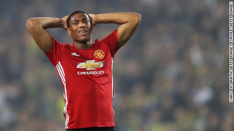 Anthony Martial and his United teammates endured a frustrating night in Istanbul.