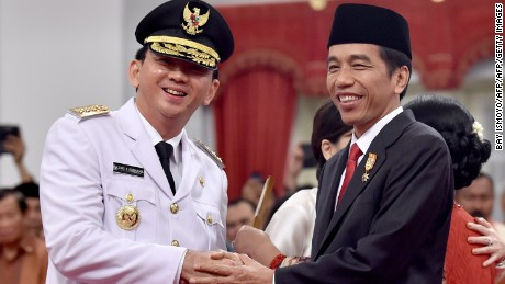 Ahok succeeded Indonesian President Joko Widodo as governor of Jakarta in 2014.