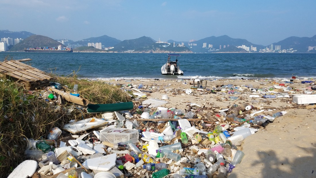 Usually popular with locals and tourists, Sok Ku Wan has been littered with household trash.