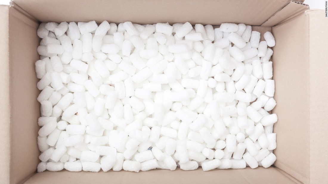 "Polystyrene-based material is almost unavoidable in disposable packaging, but it's also non-biodegradable and difficult to recycle, going on to blight landscapes and poison small animals after use. Several cities across the US have <a href=""http://groundswell.org/map-which-cities-have-banned-plastic-foam/"" target=""_blank"">banned it</a>. Fortunately, <a href=""http://edition.cnn.com/2016/09/16/world/ecovative-mushroom-furniture/"">ingenious alternatives</a> are becoming available."
