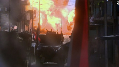 28 hours: Leading the Mosul attack, under fire then trapped