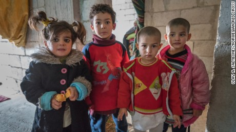 Hala, Omar, Hib and Afaf  are safer in Jarmana, but their house is cold and empty.