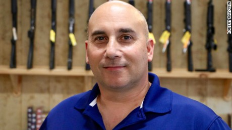 Jim Anello owns a gun shop in Franklin, North Carolina and is supporting Donald Trump and the second amendment.