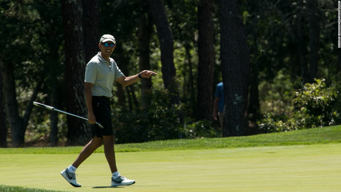 "Barack Obama has played hundreds of rounds of golf since being elected president in 2008. <a href=""http://www.golfdigest.com/story/president-obama-logs-300th-golf-round-in-office-finally-reveals-classified-handicap"" target=""_blank"">""I'm an honest 13,"" Obama told the Golf Channel. ""I think my irons are good, my drive is straight but unimpressive in length, and my putting's decent, chipping is OK. My sand game is terrible.""</a>"