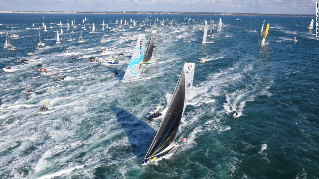 The Vendee Globe, a round-the-world solo sailing race, begins off the coast of western France on Sunday, November 6.
