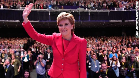 Scottish First Minister Nicola Sturgeon wants to keep Scotland in the EU single market.