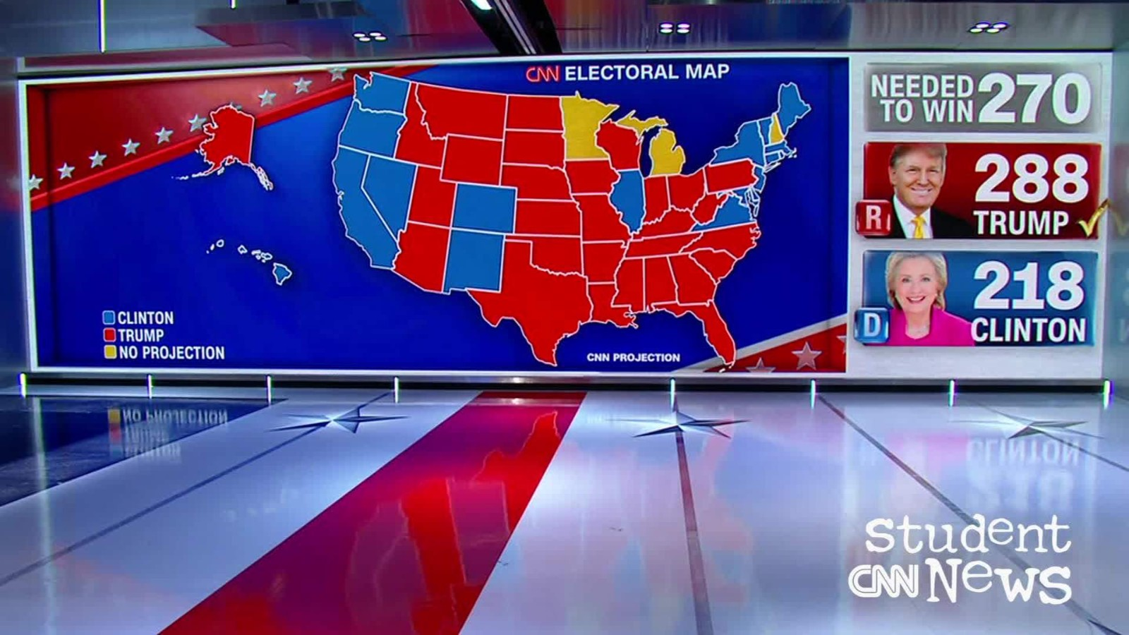 cnn projection map