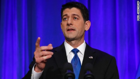 House Speaker Paul Ryan of Wisconsin speaks during a news conference in Janesville, Wisc., Wednesday, Nov. 9, 2016. (AP Photo/Paul Sancya)