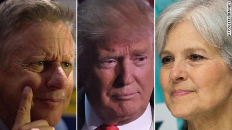 How Gary Johnson and Jill Stein helped elect Donald Trump