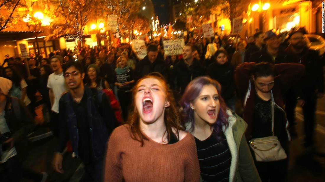 Thousands Take To The Streets To Protest Trump Win CNNPolitics - 18 hilarious reactions to donald trump winning the election