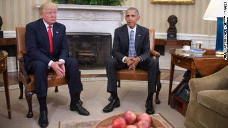 Trump & Obama meet at WH, set nasty history aside