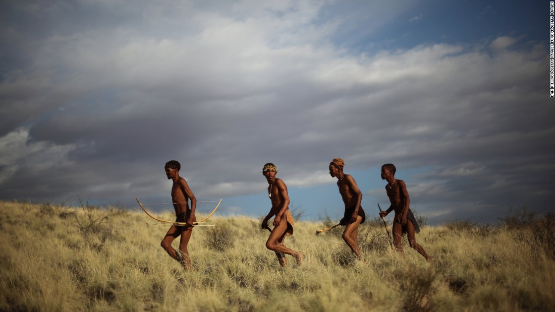 "The San of South Africa, Botswana, Angola and Namibia are, according to some researchers, <a href=""http://edition.cnn.com/2016/05/24/travel/basarwa-botswana-culture-crisis/"">the world's oldest people</a>. Their hunter-gatherer culture stretches back tens of thousands of years, and integral to it is the trance dance, also known as the healing dance. Historically an all-night affair, the practice brings the whole community together, led by healers and elders dancing around a fire, chanting and breathing deeply until they induce a trance state. It offers the chance to commune with ancestral spirits of the departed and for healers, cure sickness within other dancers.   <br /><br />Lewis says that this tradition is under threat: ""In some places in southern Africa the San now perform their traditional culture exclusively for tourists, because they've been forced out of all their territories as hunter-gatherers by conservationist organizations. This means that by extension... these performances are not the original initiations but a facsimile of them."""