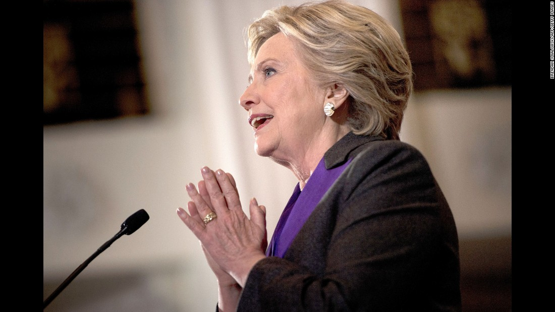 "Hillary Clinton <a href=""http://www.cnn.com/2016/11/09/politics/clinton-to-offer-remarks-in-new-york-city/"" target=""_blank"">delivers a painful concession speech</a> to supporters and campaign staff in New York on Wednesday, November 9. ""Donald Trump is going to be our president,"" Clinton said. ""We owe him an open mind and a chance to lead."""