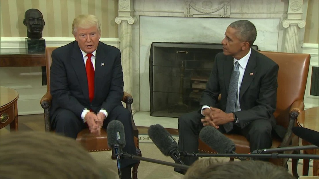 Trump calls Obama 'a very good man' after historic White House meeting