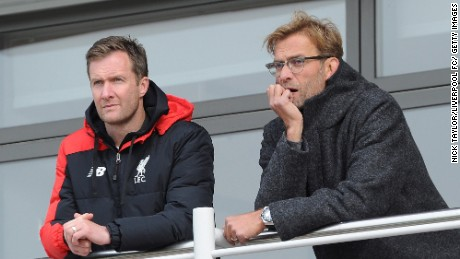 Alex Inglethorpe and Liverpool manager Jurgen Klopp enjoy a close working relationship.