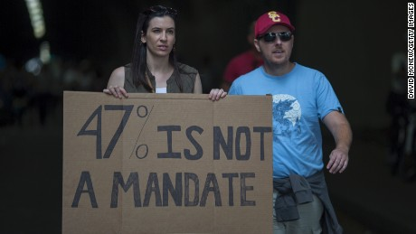 Protesters in Los Angeles on November 12.