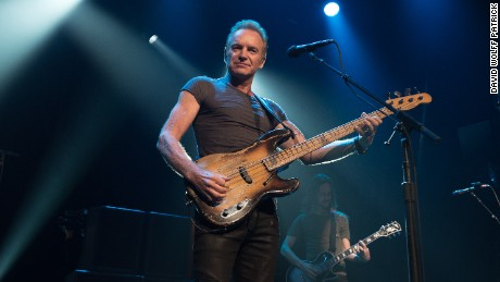 Sting played for just over an hour, with the concert slowly moving from remembrance to celebration.