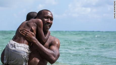 "Mahershala Ali, right, and Alex R. Hibbert in the acclaimed film ""Moonlight."""