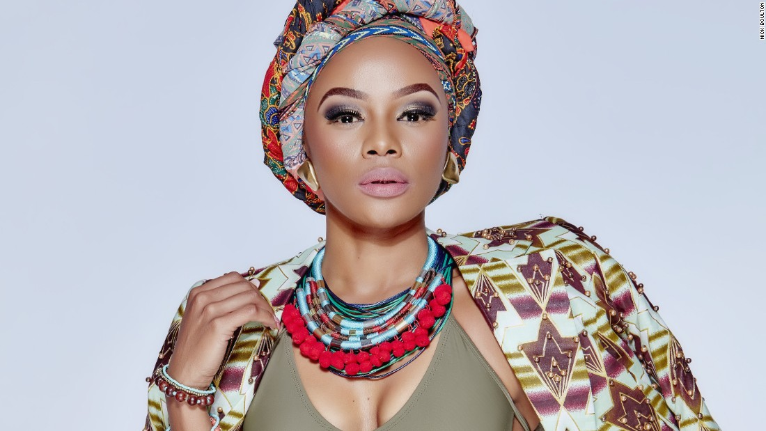 In 2013, Matheba made history as the first South African to be chosen as a brand ambassador for Revlon.