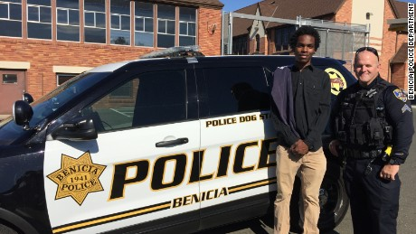 officers buy bike for teen who walked hours to work