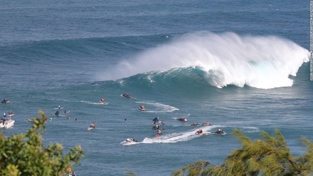 The break, which only comes to life at certain times of the year, is situated on the north coast of the Hawaiian island of Maui near the town of Wailea.