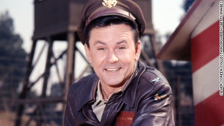 American actor Bob Crane (1928 - 1978) as Colonel Robert E Hogan in the American TV Comedy series 'Hogan's Heroes', circa 1968. (Photo by Silver Screen Collection/Getty Images)