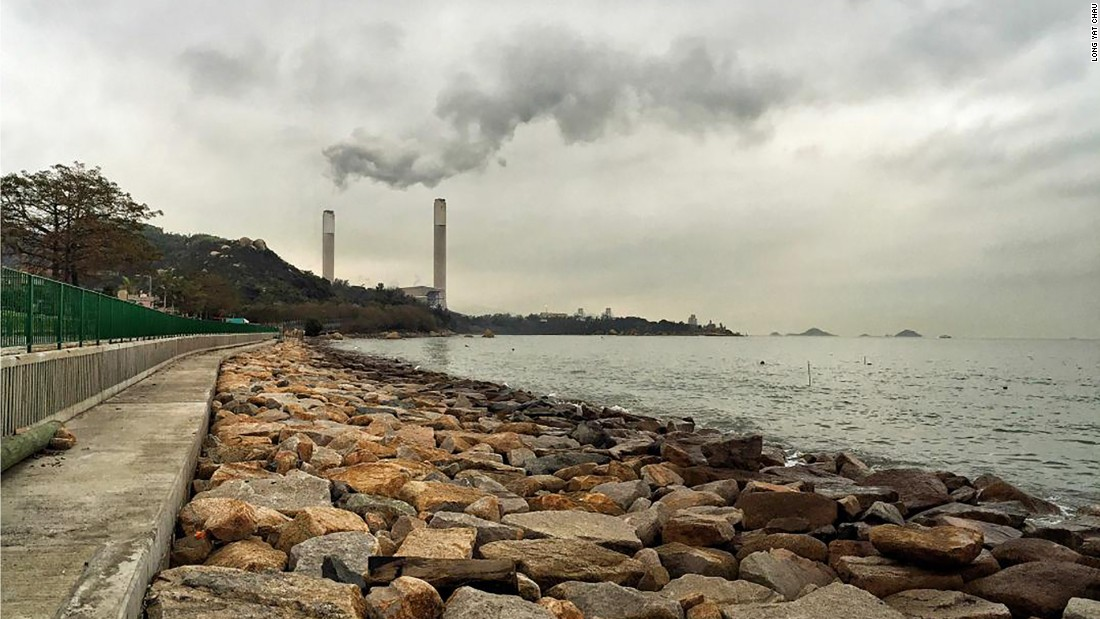 "Photo: Long Yat Chau, Hong Kong: ""Air pollution, particularly in the form of waste gas from generating stations, is a serious problem in Hong Kong."""
