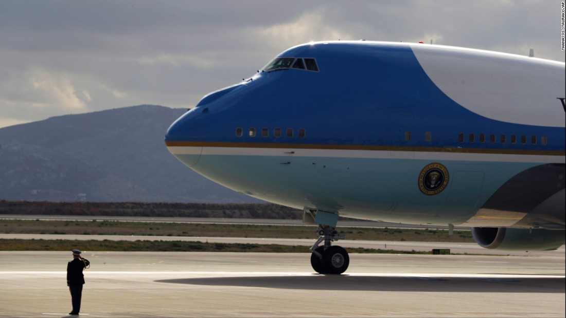 Air Force One touches down at the Athens airport on November 15. Obama was the first sitting US president to visit Greece since Bill Clinton in 1999.