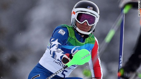 Danelle Umstead competed in the women's visually impaired slalom event at the 2010 Winter Paralympics in Vancouver.