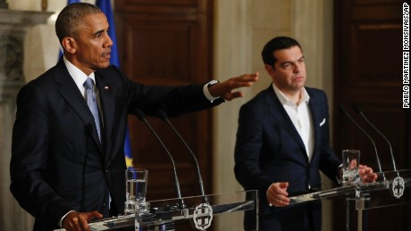 Obama hails democracy -- even when it's 'especially complicated' -- in Athens