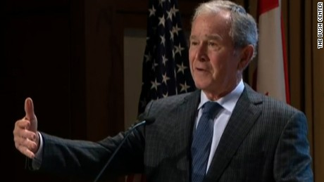 george w bush center remarks